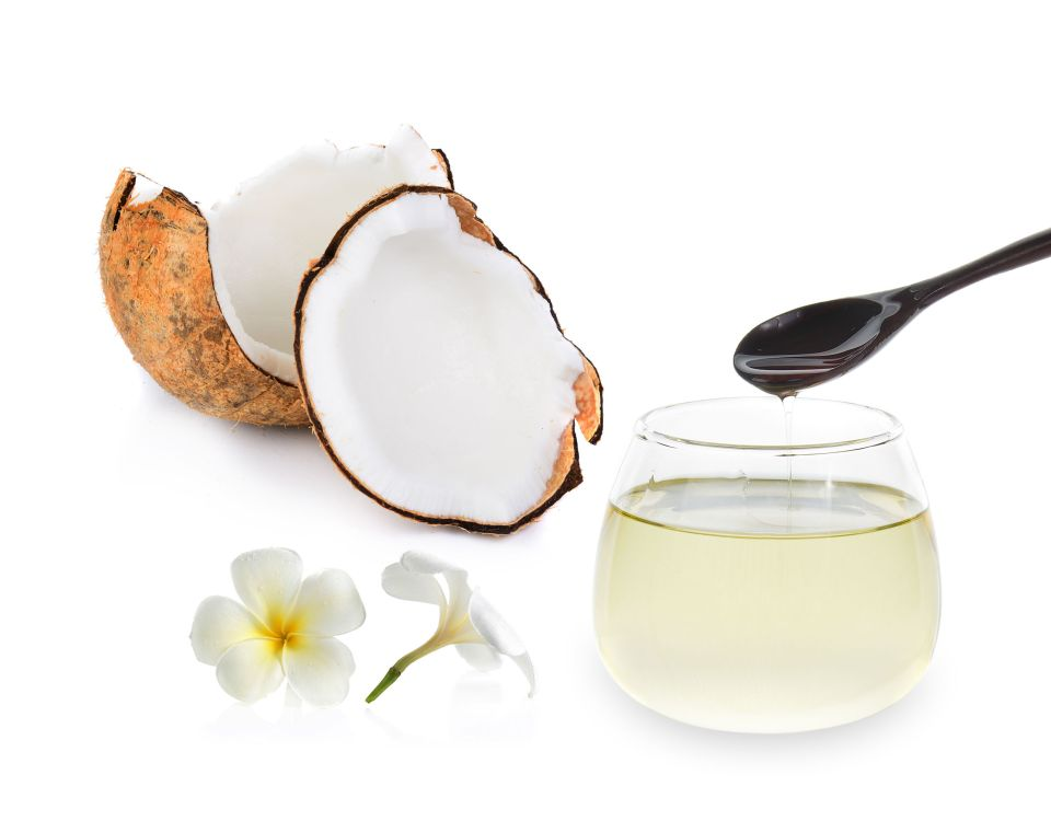 40357391 - coconut oil isolated on white