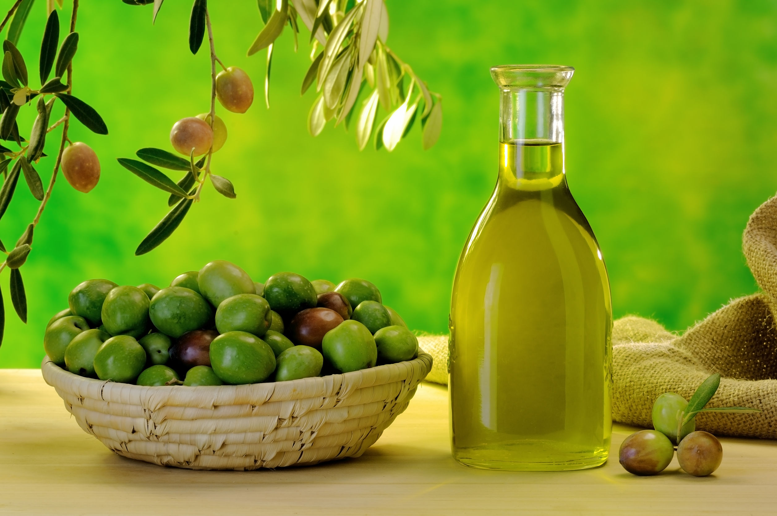 24589488 - typical extra virgin olive oil of the sicilian countryside